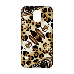 Background Fabric Animal Motifs And Flowers Samsung Galaxy S5 Hardshell Case