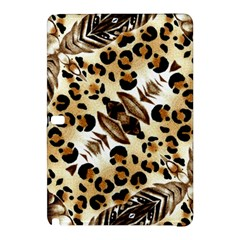 Background Fabric Animal Motifs And Flowers Samsung Galaxy Tab Pro 10 1 Hardshell Case