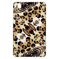 Background Fabric Animal Motifs And Flowers Samsung Galaxy Tab Pro 8 4 Hardshell Case
