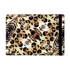 Background Fabric Animal Motifs And Flowers Ipad Mini 2 Flip Cases