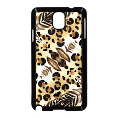 Background Fabric Animal Motifs And Flowers Samsung Galaxy Note 3 Neo Hardshell Case (black)