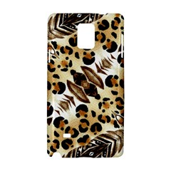 Background Fabric Animal Motifs And Flowers Samsung Galaxy Note 4 Hardshell Case