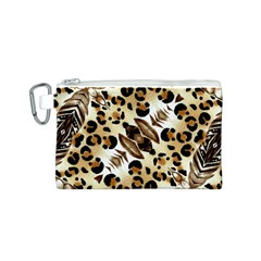 Background Fabric Animal Motifs And Flowers Canvas Cosmetic Bag (s)