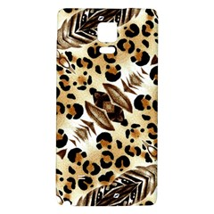 Background Fabric Animal Motifs And Flowers Galaxy Note 4 Back Case