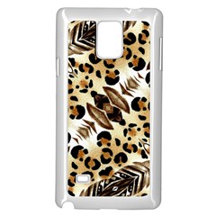 Background Fabric Animal Motifs And Flowers Samsung Galaxy Note 4 Case (white)