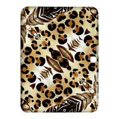 Background Fabric Animal Motifs And Flowers Samsung Galaxy Tab 4 (10 1 ) Hardshell Case