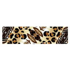 Background Fabric Animal Motifs And Flowers Satin Scarf (Oblong)