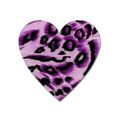 Background Fabric Animal Motifs Lilac Heart Magnet