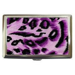Background Fabric Animal Motifs Lilac Cigarette Money Cases