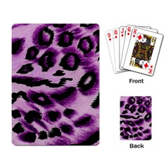 Background Fabric Animal Motifs Lilac Playing Card