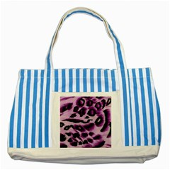 Background Fabric Animal Motifs Lilac Striped Blue Tote Bag