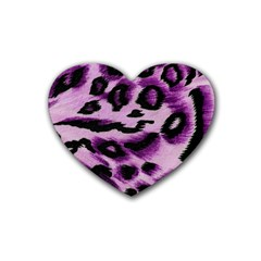 Background Fabric Animal Motifs Lilac Heart Coaster (4 Pack)