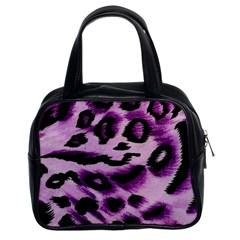 Background Fabric Animal Motifs Lilac Classic Handbags (2 Sides)