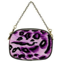 Background Fabric Animal Motifs Lilac Chain Purses (two Sides)