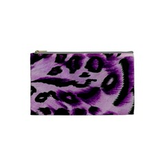 Background Fabric Animal Motifs Lilac Cosmetic Bag (small)
