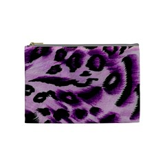 Background Fabric Animal Motifs Lilac Cosmetic Bag (medium)