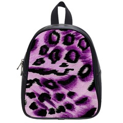Background Fabric Animal Motifs Lilac School Bags (small)