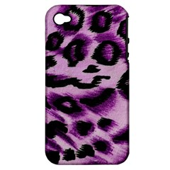 Background Fabric Animal Motifs Lilac Apple Iphone 4/4s Hardshell Case (pc+silicone)