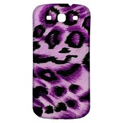 Background Fabric Animal Motifs Lilac Samsung Galaxy S3 S Iii Classic Hardshell Back Case