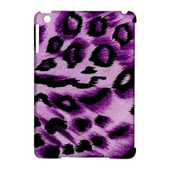 Background Fabric Animal Motifs Lilac Apple Ipad Mini Hardshell Case (compatible With Smart Cover)