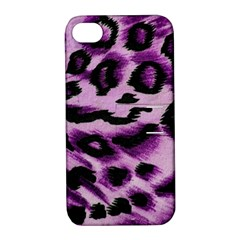 Background Fabric Animal Motifs Lilac Apple Iphone 4/4s Hardshell Case With Stand