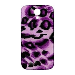 Background Fabric Animal Motifs Lilac Samsung Galaxy S4 I9500/i9505  Hardshell Back Case