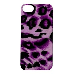 Background Fabric Animal Motifs Lilac Apple Iphone 5s/ Se Hardshell Case