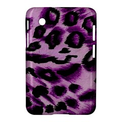Background Fabric Animal Motifs Lilac Samsung Galaxy Tab 2 (7 ) P3100 Hardshell Case