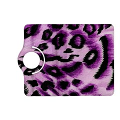 Background Fabric Animal Motifs Lilac Kindle Fire Hd (2013) Flip 360 Case