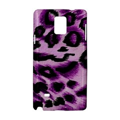 Background Fabric Animal Motifs Lilac Samsung Galaxy Note 4 Hardshell Case