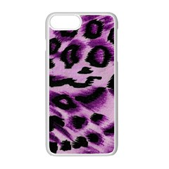 Background Fabric Animal Motifs Lilac Apple Iphone 7 Plus White Seamless Case