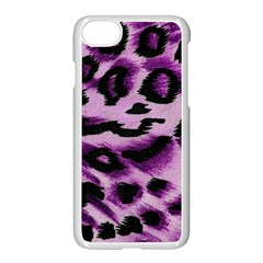 Background Fabric Animal Motifs Lilac Apple Iphone 7 Seamless Case (white)