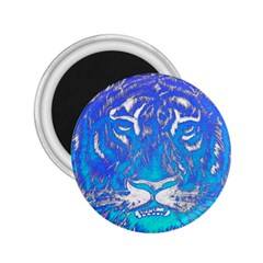Background Fabric With Tiger Head Pattern 2 25  Magnets