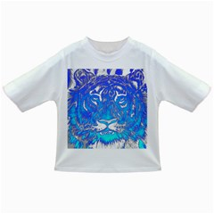 Background Fabric With Tiger Head Pattern Infant/toddler T Shirts