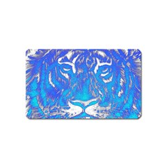 Background Fabric With Tiger Head Pattern Magnet (name Card)