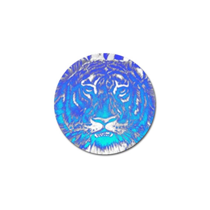 Background Fabric With Tiger Head Pattern Golf Ball Marker