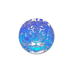 Background Fabric With Tiger Head Pattern Golf Ball Marker (10 Pack)
