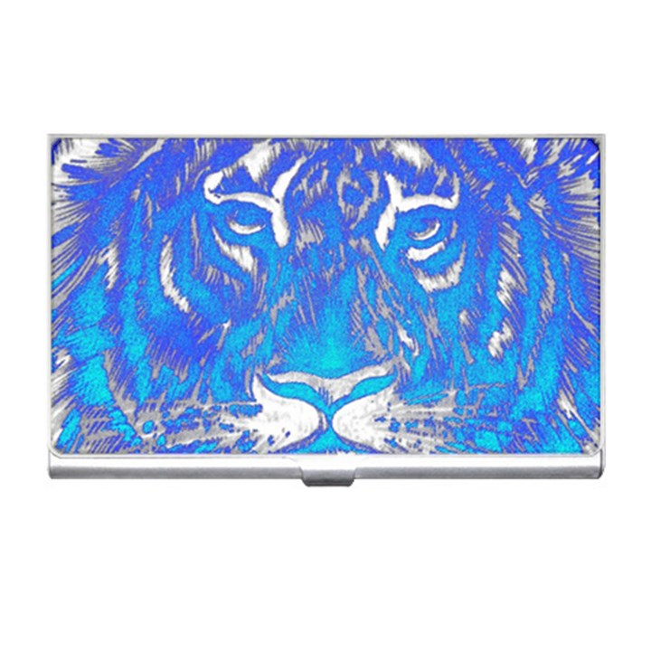 Background Fabric With Tiger Head Pattern Business Card Holders