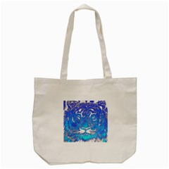 Background Fabric With Tiger Head Pattern Tote Bag (cream)