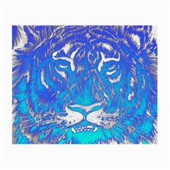 Background Fabric With Tiger Head Pattern Small Glasses Cloth