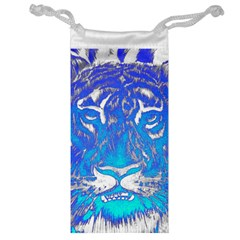 Background Fabric With Tiger Head Pattern Jewelry Bag