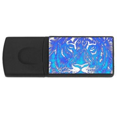 Background Fabric With Tiger Head Pattern USB Flash Drive Rectangular (4 GB)