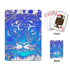Background Fabric With Tiger Head Pattern Playing Card