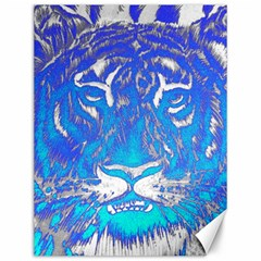 Background Fabric With Tiger Head Pattern Canvas 12  X 16