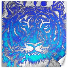Background Fabric With Tiger Head Pattern Canvas 16  X 16