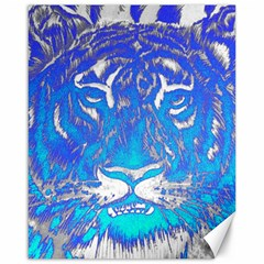 Background Fabric With Tiger Head Pattern Canvas 16  X 20
