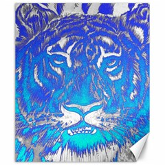 Background Fabric With Tiger Head Pattern Canvas 20  X 24