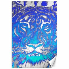 Background Fabric With Tiger Head Pattern Canvas 20  X 30