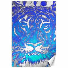 Background Fabric With Tiger Head Pattern Canvas 24  X 36