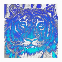 Background Fabric With Tiger Head Pattern Medium Glasses Cloth